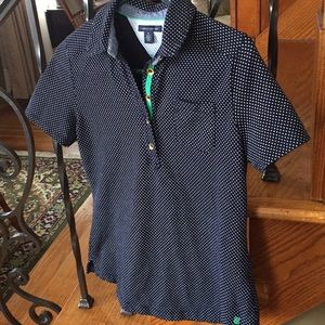 Tommy Hilfiger Navy Polka Dot Polo